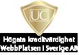UC - Högsta kreditvärdighet för WebbPlatsen i Sverige AB